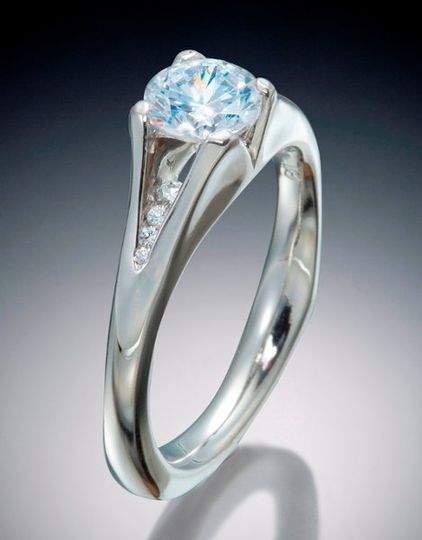 Diamond princess engagement ring