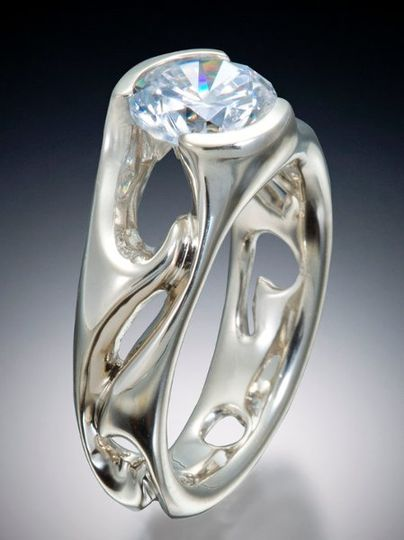 Diva solitaire engagement ring.