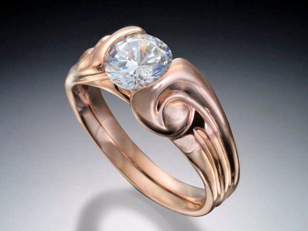 Tmx 1333573121572 RedGoldEngagementRing Boston wedding jewelry