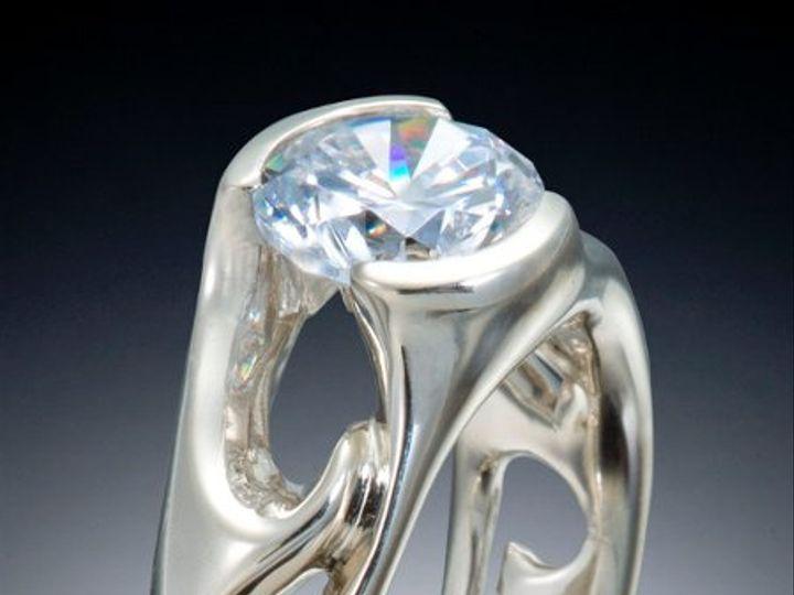 Tmx 1333573297548 SolitaireEngagementWaveRing Boston wedding jewelry
