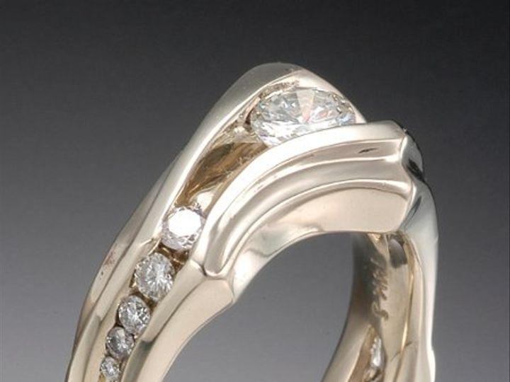 Tmx 1333573370434 SculptedFloatingDiamondRing Boston wedding jewelry