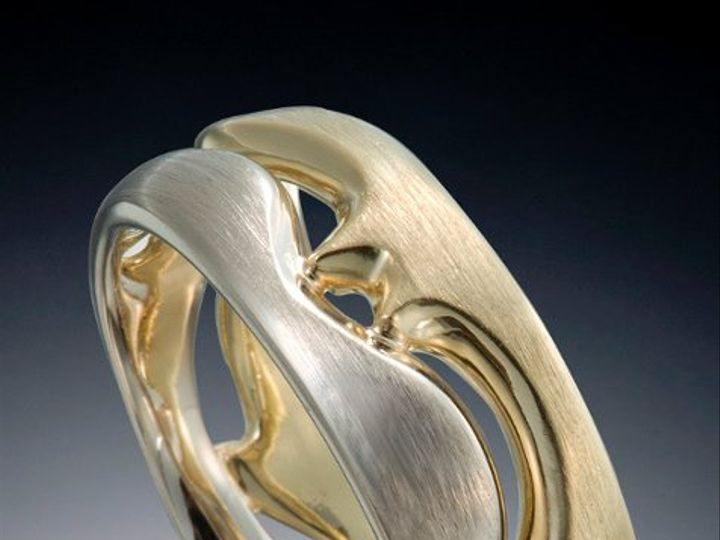 Tmx 1333573434998 MultiColorWaveBand Boston wedding jewelry