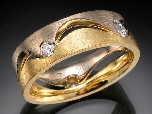 Tmx 1333573467443 YellowandWhiteWaveBand Boston wedding jewelry