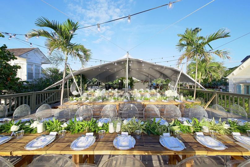 Reception on the deck