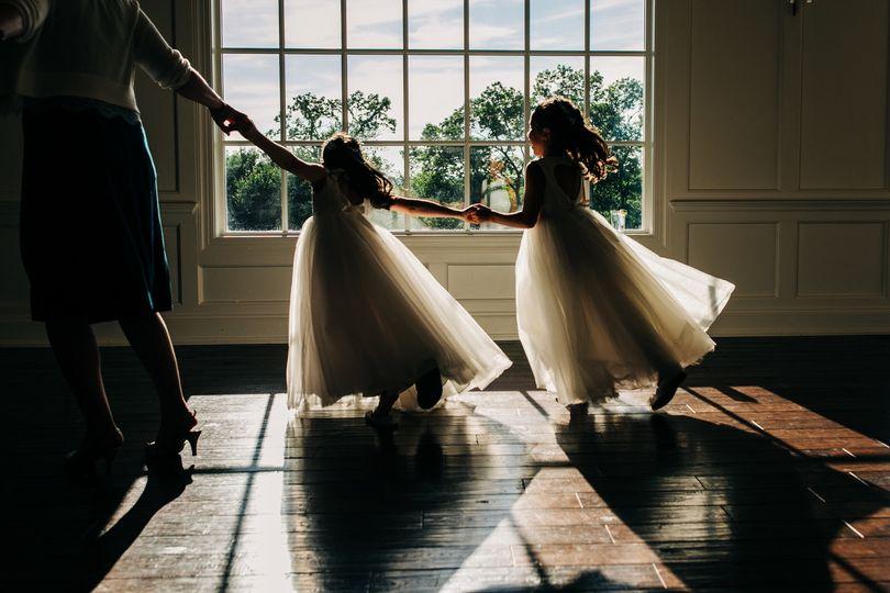 Little girls at weddings
