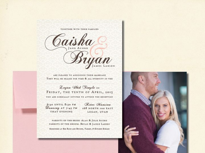 Tmx 1440103334164 Caishaweb Layton wedding invitation