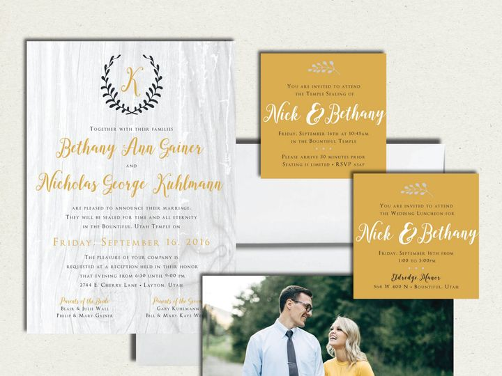Tmx 1505428982691 Bethanywedall Layton wedding invitation