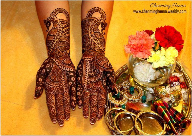 Emerald Bridal hands