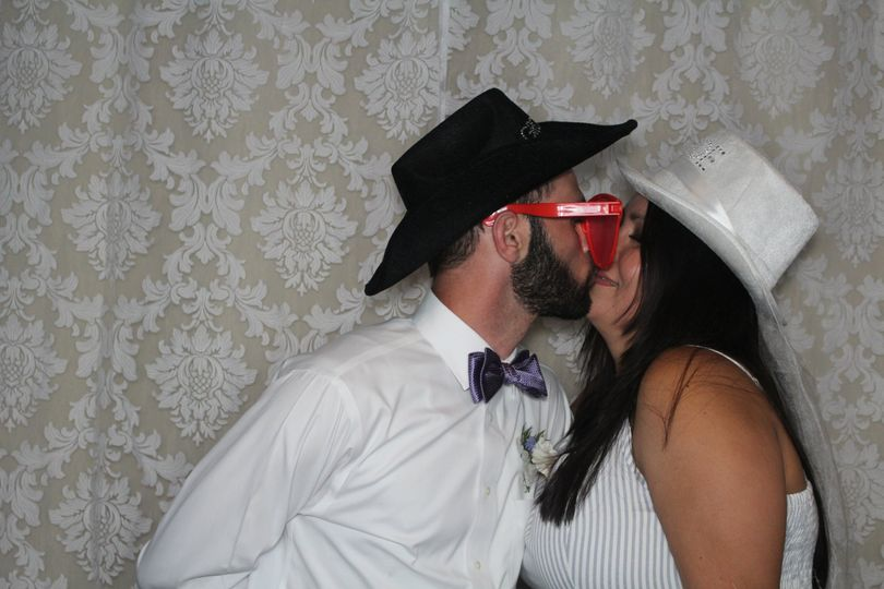 Newlyweds in the booth