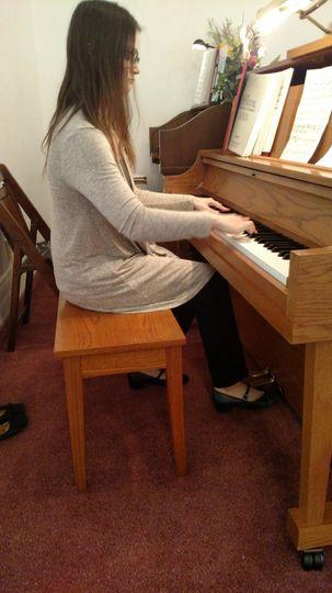 Preparation for recital.