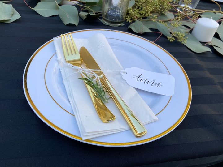Table setting place card