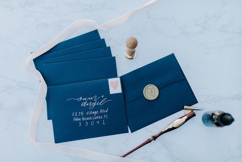 Modern invitation sample
