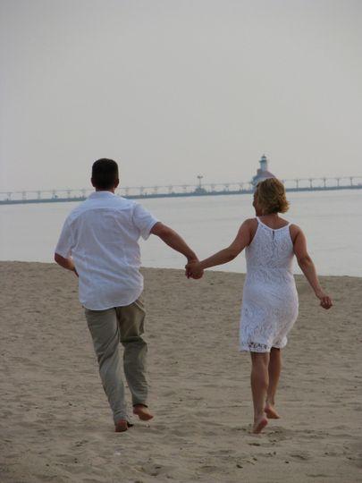 Running toward the Lighthouse