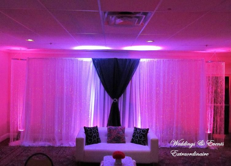 backdrop with pink lighting