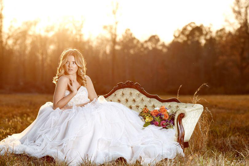 Outdoor bridal shoot
