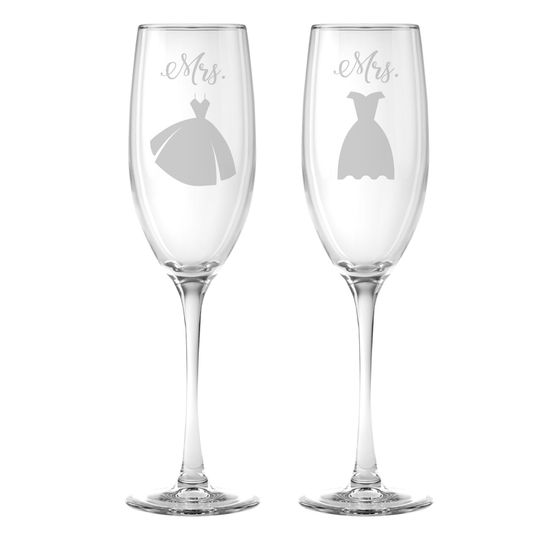 Personalized flutes & glassware