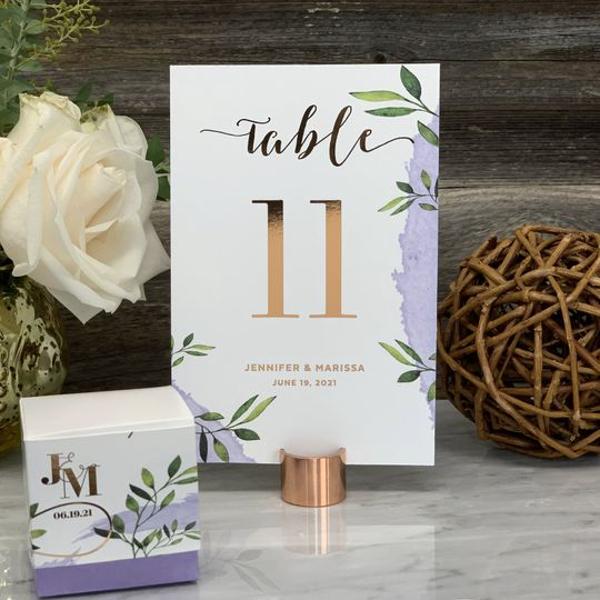Wedding Table Numbers Gold