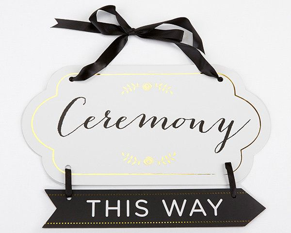 Tmx 1487979384075 28317na Classic Gold Foil Directional Ceremony Sig Templeton, California wedding favor