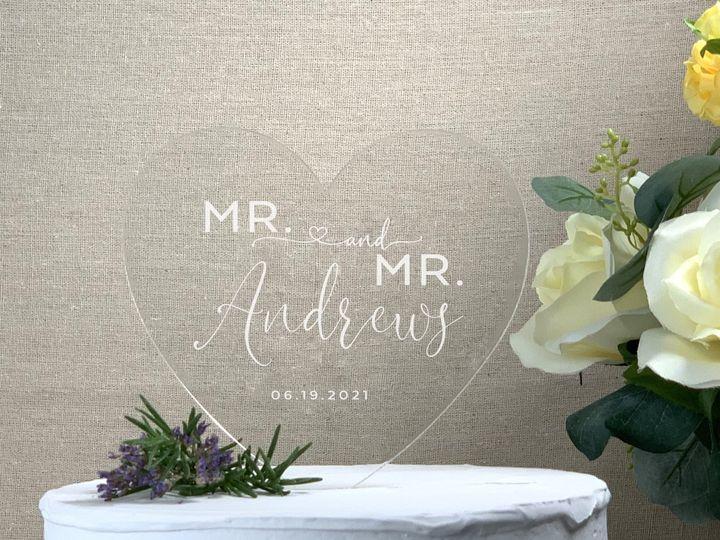 Tmx Heart Cake Topper Mr Mr Lastname Copy 51 786025 159500983438022 Templeton, California wedding favor