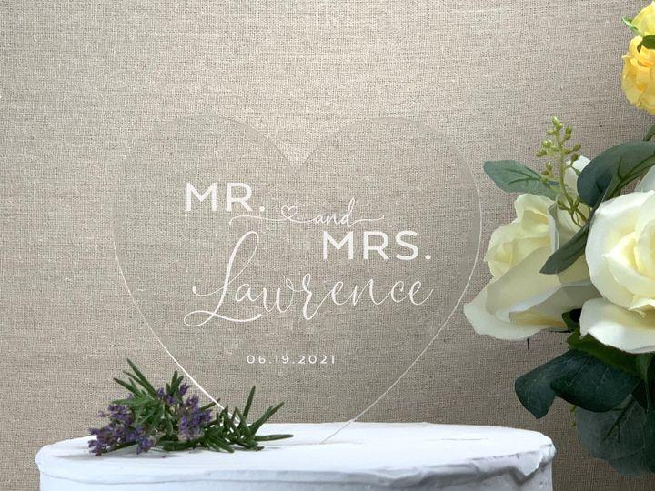 Tmx Heart Cake Topper Mr Mrs Lastname Copy 51 786025 159501004017579 Templeton, California wedding favor