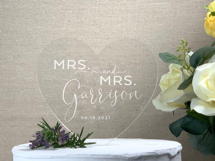 Tmx Heart Cake Topper Mrs Mrs Lastname Copy 51 786025 159501005944366 Templeton, California wedding favor