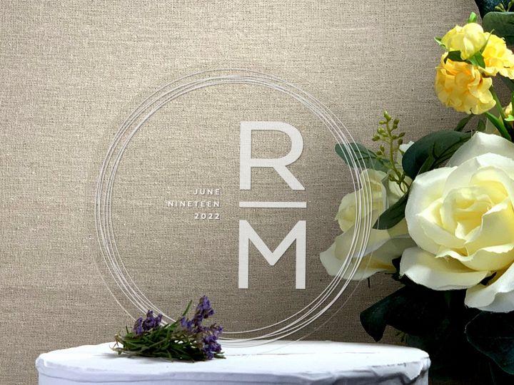 Tmx Round Cake Topper Busy Circles Copy 51 786025 159501044632311 Templeton, California wedding favor