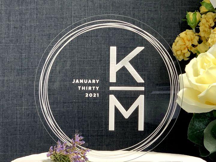 Tmx Round Cake Topper Initials Copy 51 786025 159501050086859 Templeton, California wedding favor
