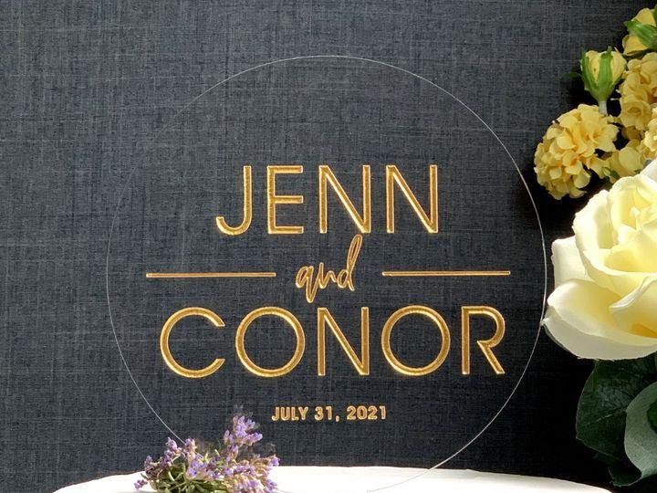 Tmx Round Cake Topper Modern Gold Copy 51 786025 159501058264593 Templeton, California wedding favor