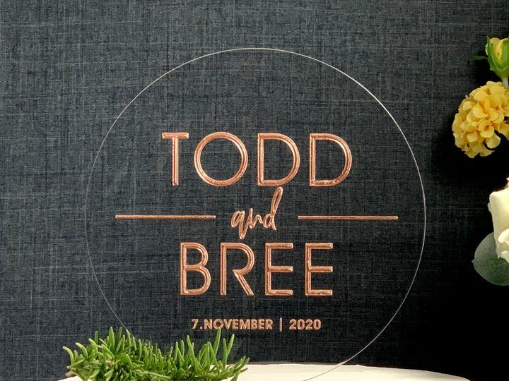 Tmx Round Cake Topper Modern Rose Gold Copy 51 786025 159501060462276 Templeton, California wedding favor