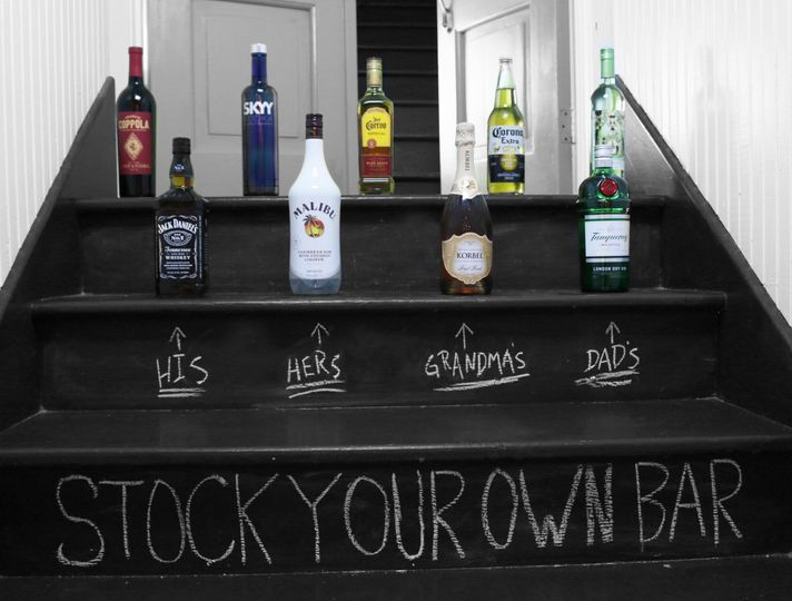 Stock your own bar