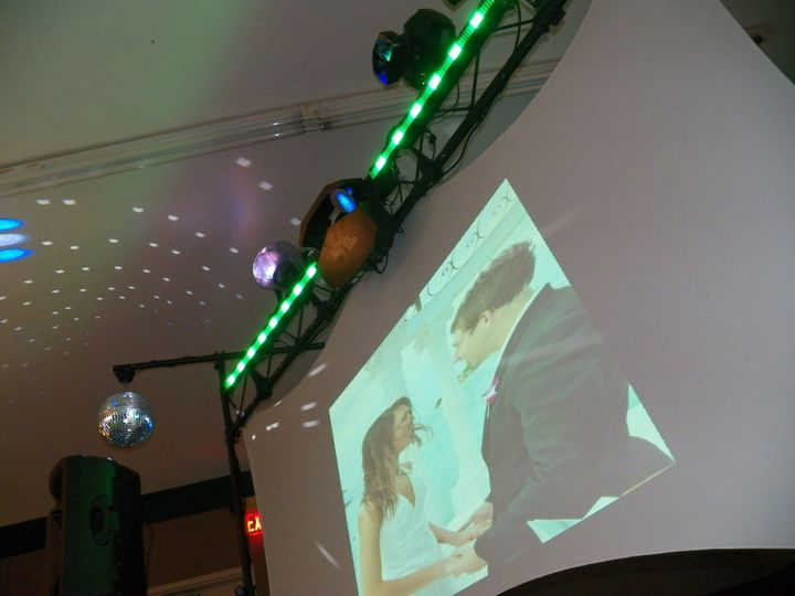 Couple's at the projector