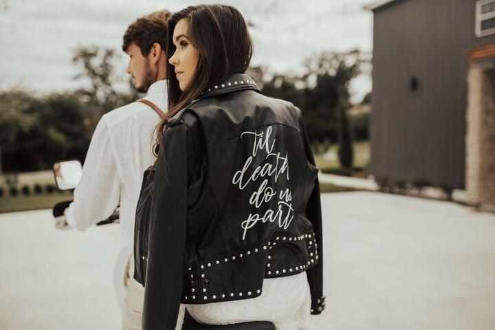 Leather Jacket Calligraphy