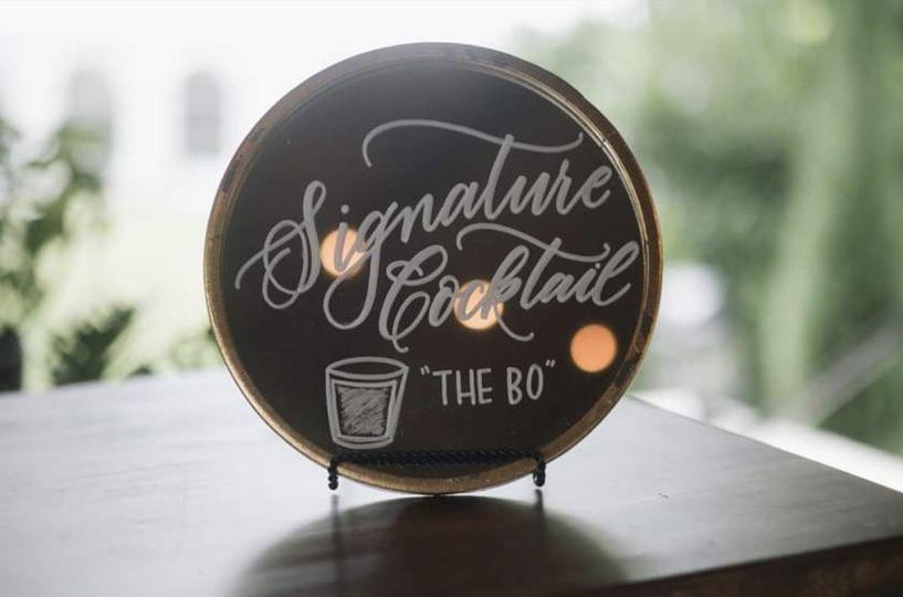 Signature Cocktail Signage