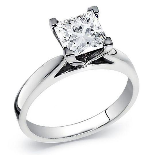 Princess diamond solitare ring