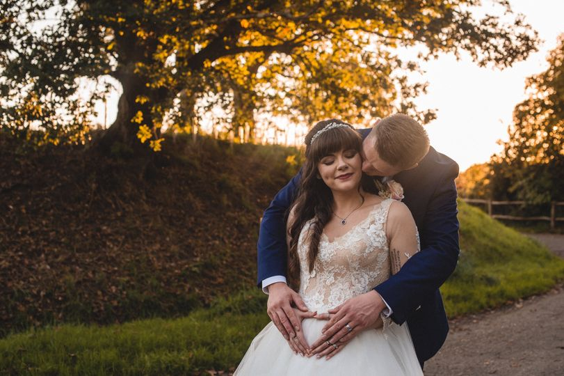 Bride and groom (Southdowns Manor, West Sussex)
