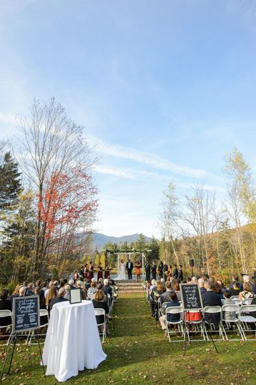 Beautiful ceremony site! Venue: Waterville Valley Resort in NH Photo credit: Boro Photography