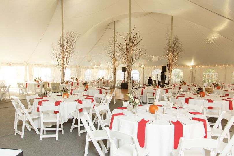 Tented reception Venue: Waterville Valley Resort in NH Photo credit: Boro Photography