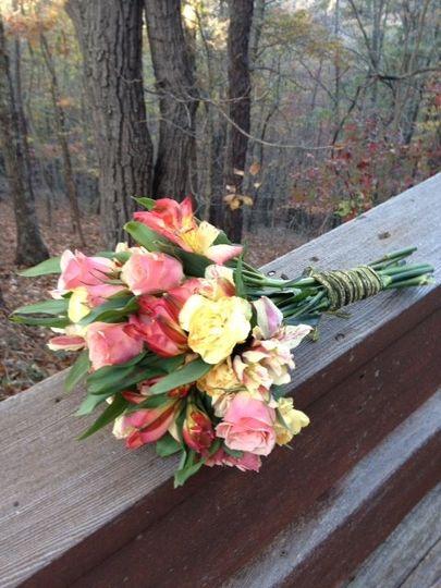 Amber's Bouquet, floral design by Kanta Bosniak, photo by Kanta Bosniak