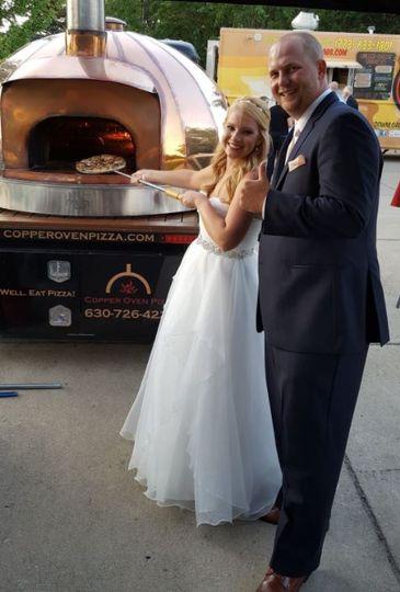 A slice of newlywed joy