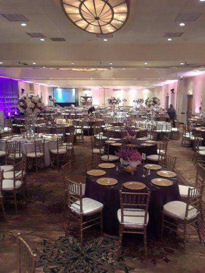 Long view of ballroom
