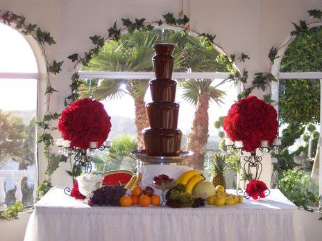 Large Milk Chocolate Fountain Display