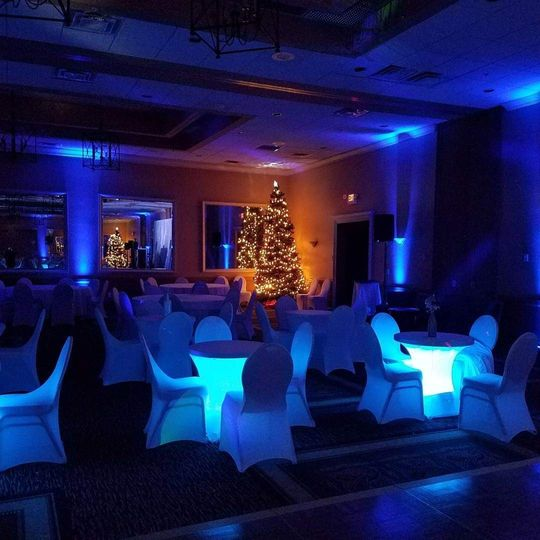 Wedding ambiance lighting
