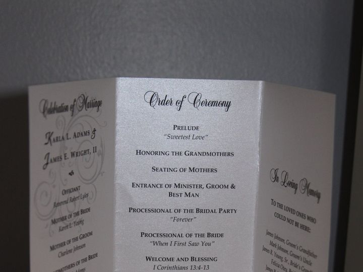 Tmx 1373082311519 Metallic Trifold Kandj Baltimore wedding invitation
