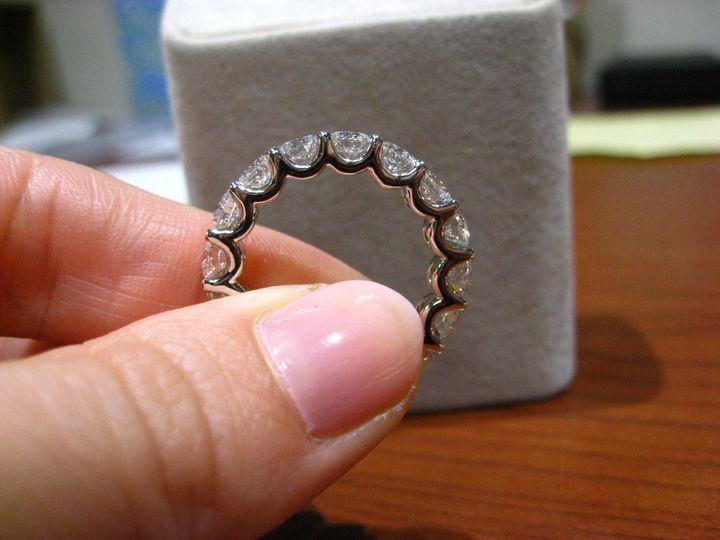 4 6 carats eternity u shape ring