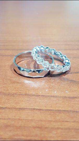 romantic custom wedding bands enhanced