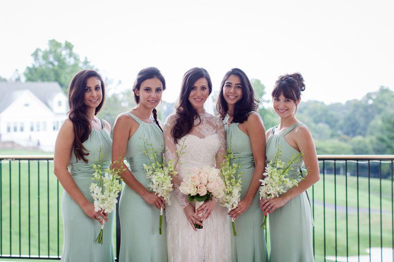 Lush green dresses