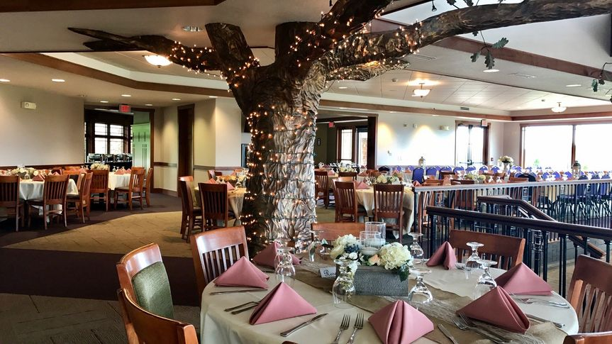 Oak Room and copper tree