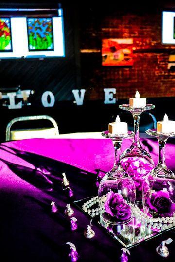 Purple & Silver Centerpiece