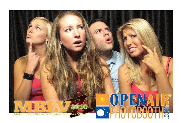 Open Air Photobooth 4x6 Portrait picture with custom overlay