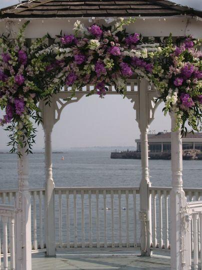 Overhead floral decoration